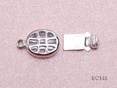8.5*11mm Single-strand Sterling Silver Clasp SC149 Image 2