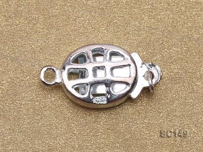 8.5*11mm Single-strand Sterling Silver Clasp SC149 Image 3