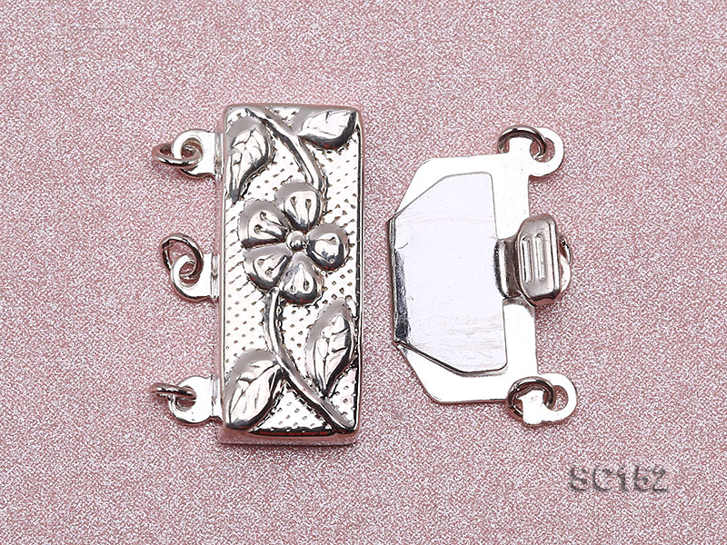 9.5*19.5mm Three-strand Sterling Silver Clasp big Image 3