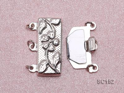 9.5*19.5mm Three-strand Sterling Silver Clasp SC152 Image 3