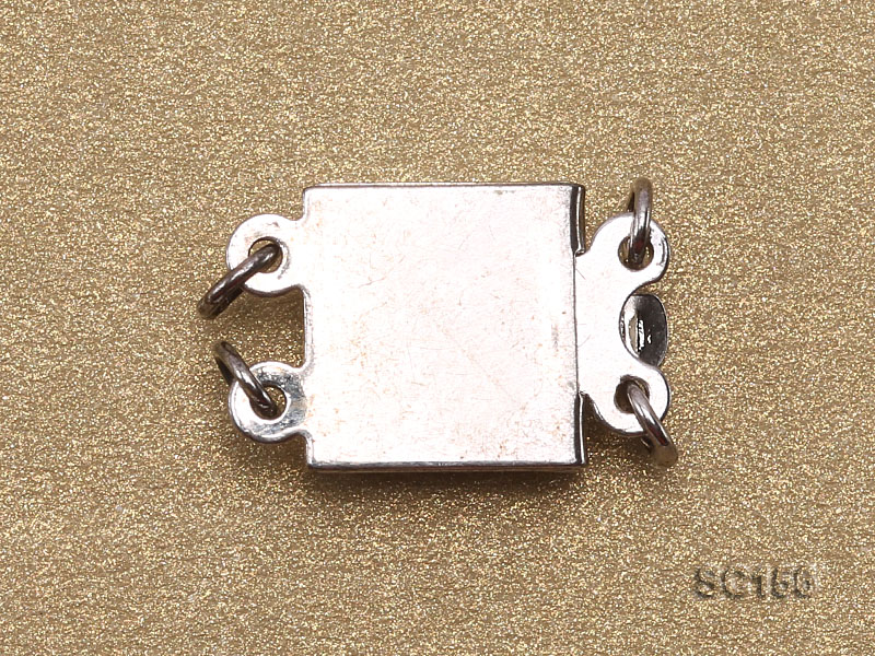 8*12mm Double-strand Sterling Silver Clasp big Image 2
