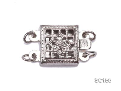 8*12mm Double-strand Sterling Silver Clasp SC156 Image 1