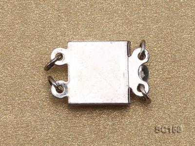 8*12mm Double-strand Sterling Silver Clasp SC156 Image 2