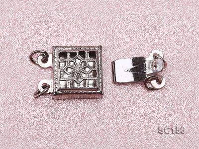 8*12mm Double-strand Sterling Silver Clasp SC156 Image 3