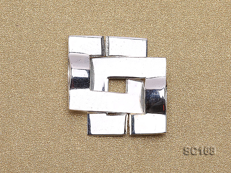15*22mm Single-strand Sterling Silver Clasp big Image 2