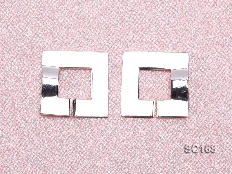 15*22mm Single-strand Sterling Silver Clasp big Image 3