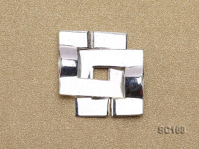 15*22mm Single-strand Sterling Silver Clasp SC168 Image 2