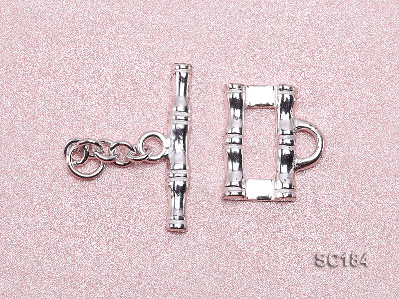 8*14mm Single-strand Sterling Silver Toggle Clasp big Image 3