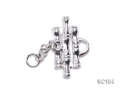8*14mm Single-strand Sterling Silver Toggle Clasp SC184 Image 1