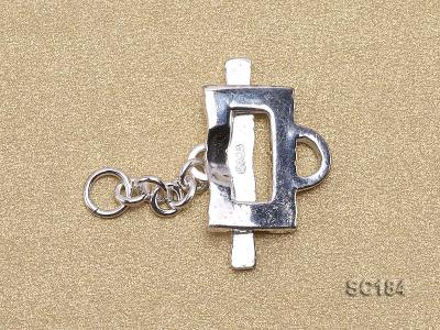 8*14mm Single-strand Sterling Silver Toggle Clasp SC184 Image 2