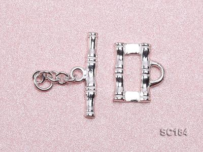 8*14mm Single-strand Sterling Silver Toggle Clasp SC184 Image 3