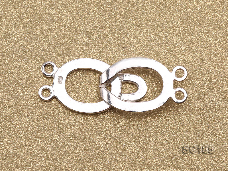 12*30mm Double-strand Sterling Silver Clasp big Image 2