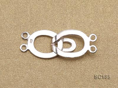 12*30mm Double-strand Sterling Silver Clasp SC185 Image 2