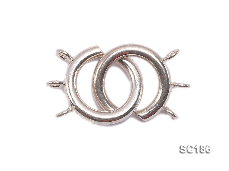 15mm Three-strand Sterling Silver Clasp big Image 1