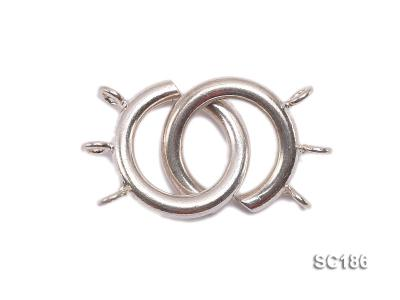 15mm Three-strand Sterling Silver Clasp SC186 Image 1