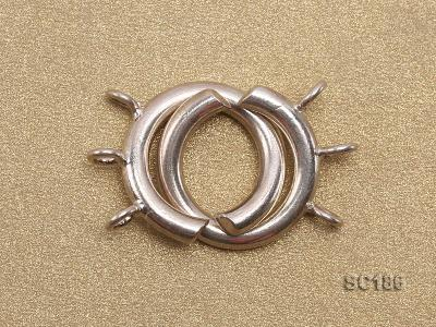 15mm Three-strand Sterling Silver Clasp SC186 Image 2