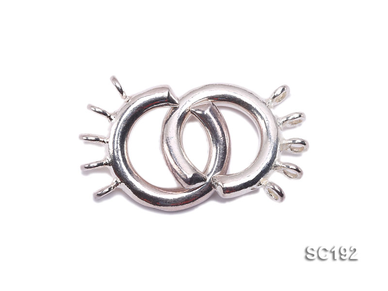 15mm Five-strand Sterling Silver Clasp big Image 1
