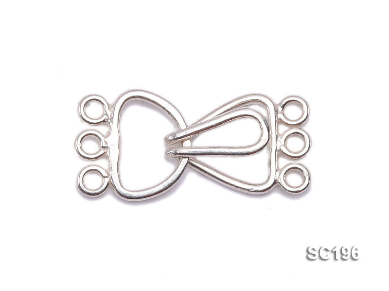 10*20mm Three-strand Sterling Silver Clasp big Image 1