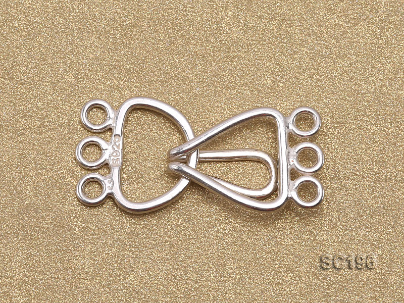 10*20mm Three-strand Sterling Silver Clasp big Image 2