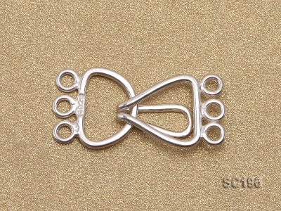10*20mm Three-strand Sterling Silver Clasp SC196 Image 2