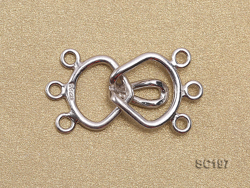 13*25mm Three-strand Sterling Silver Clasp big Image 2