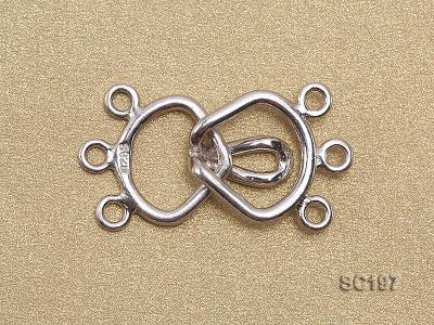 13*25mm Three-strand Sterling Silver Clasp SC197 Image 2