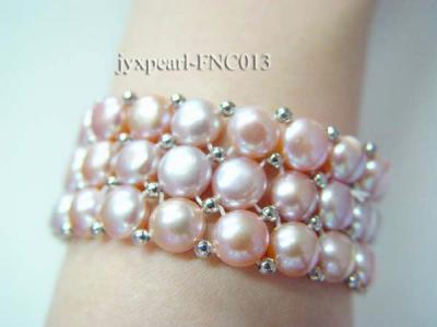 6.5-7mm Lavender Freshwater Pearl Choker Necklace and Bracelet Set FNC013 Image 3