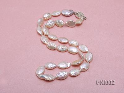 Classic 11x16mm Pink Irregular Freshwater Pearl Necklace with 4mm White Round Pearls FNI002 Image 5