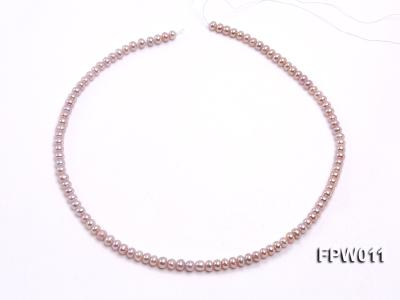 Wholesale 5x5.5mm Pink Flat Cultured Freshwater Pearl String FPW011 Image 3