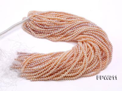 Wholesale 5x5.5mm Pink Flat Cultured Freshwater Pearl String FPW011 Image 4