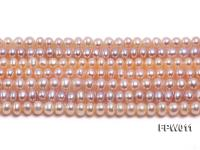Wholesale 5x5.5mm Pink Flat Cultured Freshwater Pearl String FPW011