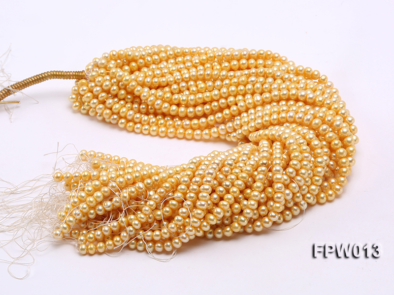 Wholesale 6.5x7.5mm  Flat Cultured Freshwater Pearl String big Image 4