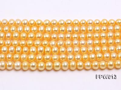 Wholesale 6.5x7.5mm  Flat Cultured Freshwater Pearl String FPW013 Image 2