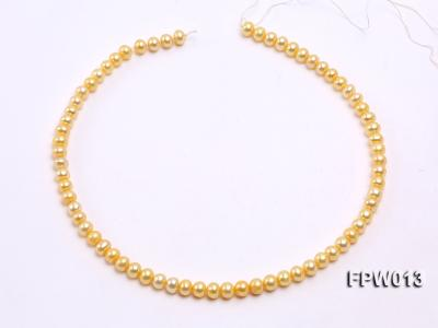 Wholesale 6.5x7.5mm  Flat Cultured Freshwater Pearl String FPW013 Image 3