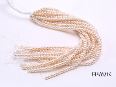 Wholesale 7.5x9mm Classic White Flat Cultured Freshwater Pearl String FPW014 Image 4