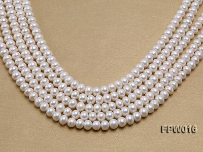 Wholesale 7x9mm White Flat Freshwater Pearl String FPW016 Image 1
