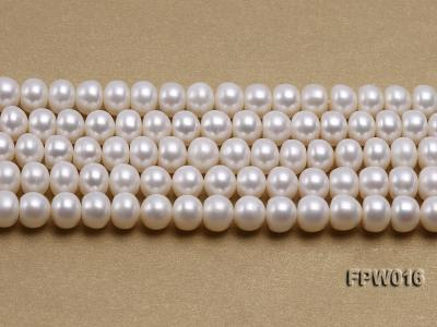 Wholesale 7x9mm White Flat Freshwater Pearl String FPW016 Image 2
