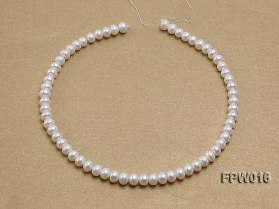 Wholesale 7x9mm White Flat Freshwater Pearl String FPW016 Image 3