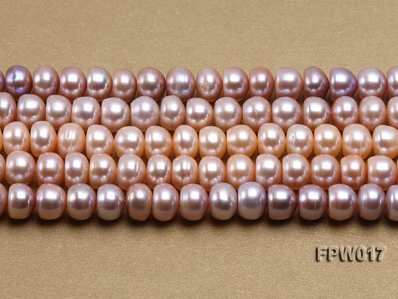 Wholesale 7.5x10mm Flat Freshwater Pearl String big Image 2