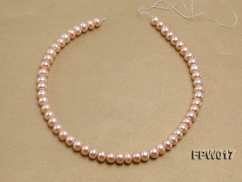 Wholesale 7.5x10mm Flat Freshwater Pearl String big Image 3