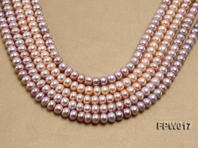Wholesale 7.5x10mm Flat Freshwater Pearl String FPW017 Image 1
