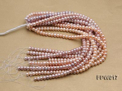 Wholesale 7.5x10mm Flat Freshwater Pearl String FPW017 Image 4