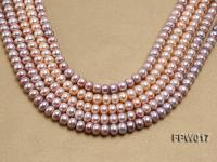 Wholesale 7.5x10mm Flat Freshwater Pearl String FPW017