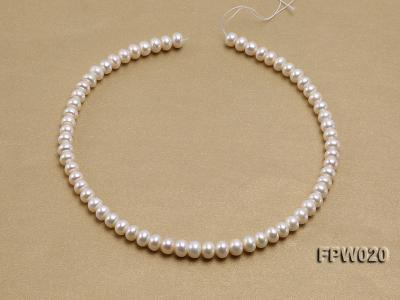 Wholesale 8.5x10mm Classic White Flat Cultured Freshwater Pearl String FPW020 Image 3