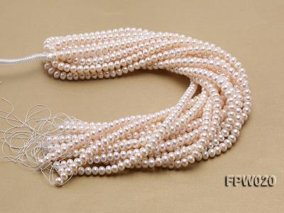 Wholesale 8.5x10mm Classic White Flat Cultured Freshwater Pearl String FPW020 Image 4