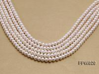 Wholesale 8.5x10mm Classic White Flat Cultured Freshwater Pearl String FPW020