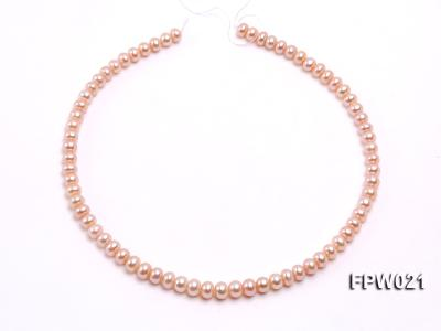 Wholesale 6.5x8mm Natural Pink Flat Cultured Freshwater Pearl String FPW021 Image 3