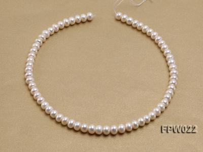 Wholesale 7x9mm Classic White Flat Cultured Freshwater Pearl String FPW022 Image 3