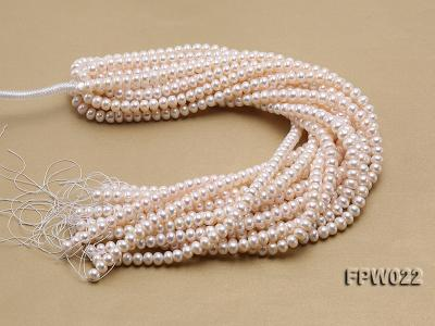 Wholesale 7x9mm Classic White Flat Cultured Freshwater Pearl String FPW022 Image 4
