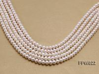 Wholesale 7x9mm Classic White Flat Cultured Freshwater Pearl String FPW022